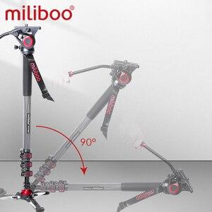 "Image 4 - miliboo MTT705 Aluminum Portable Fluid Head Camera Monopod for Camcorder /DSLR Stand Professional Video Tripod 72""Max Height"