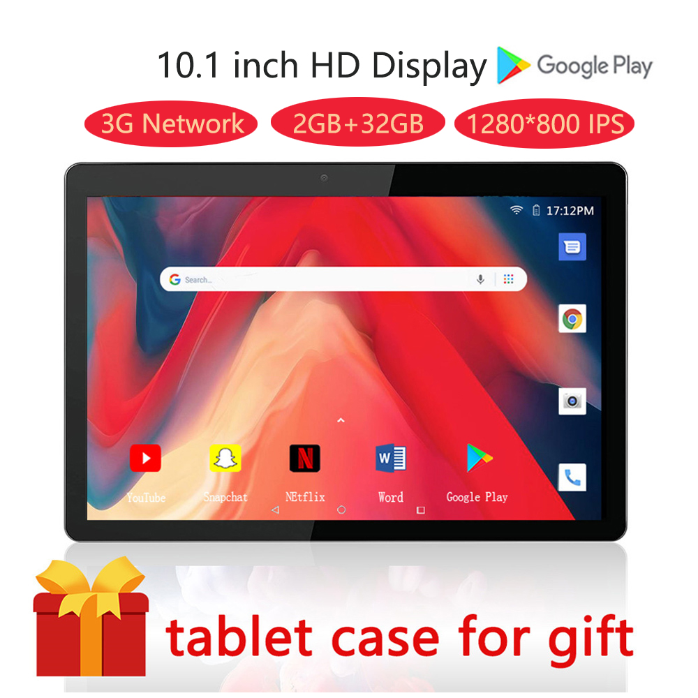 ZONKO Tablet Android 9.0 10 Inch 3G Phone Call Tablet PC Quad Core 2GB RAM 32GB ROM 1280*800 WiFi Google Play Kids Tablet