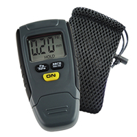 Paint Coating Thickness Gauge Digital Tester Meter Instrument 1.25mm Iron Aluminum Base Metal Car Automotive Non Metal w/ Pouch