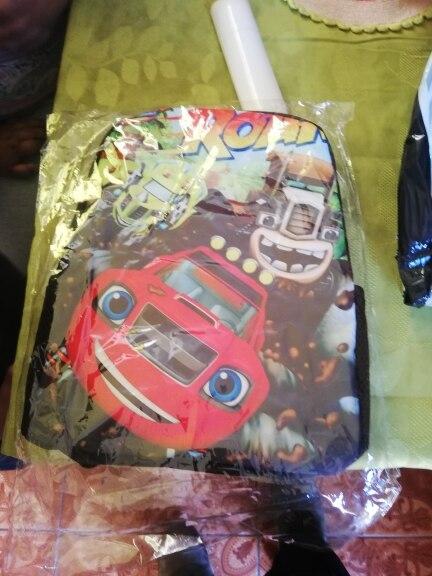 12 Inch Cartoon Blaze And The Monster Machines Print Backpack For Boys Children School Bags Backpacks Kids Kindergarten Bookbag photo review