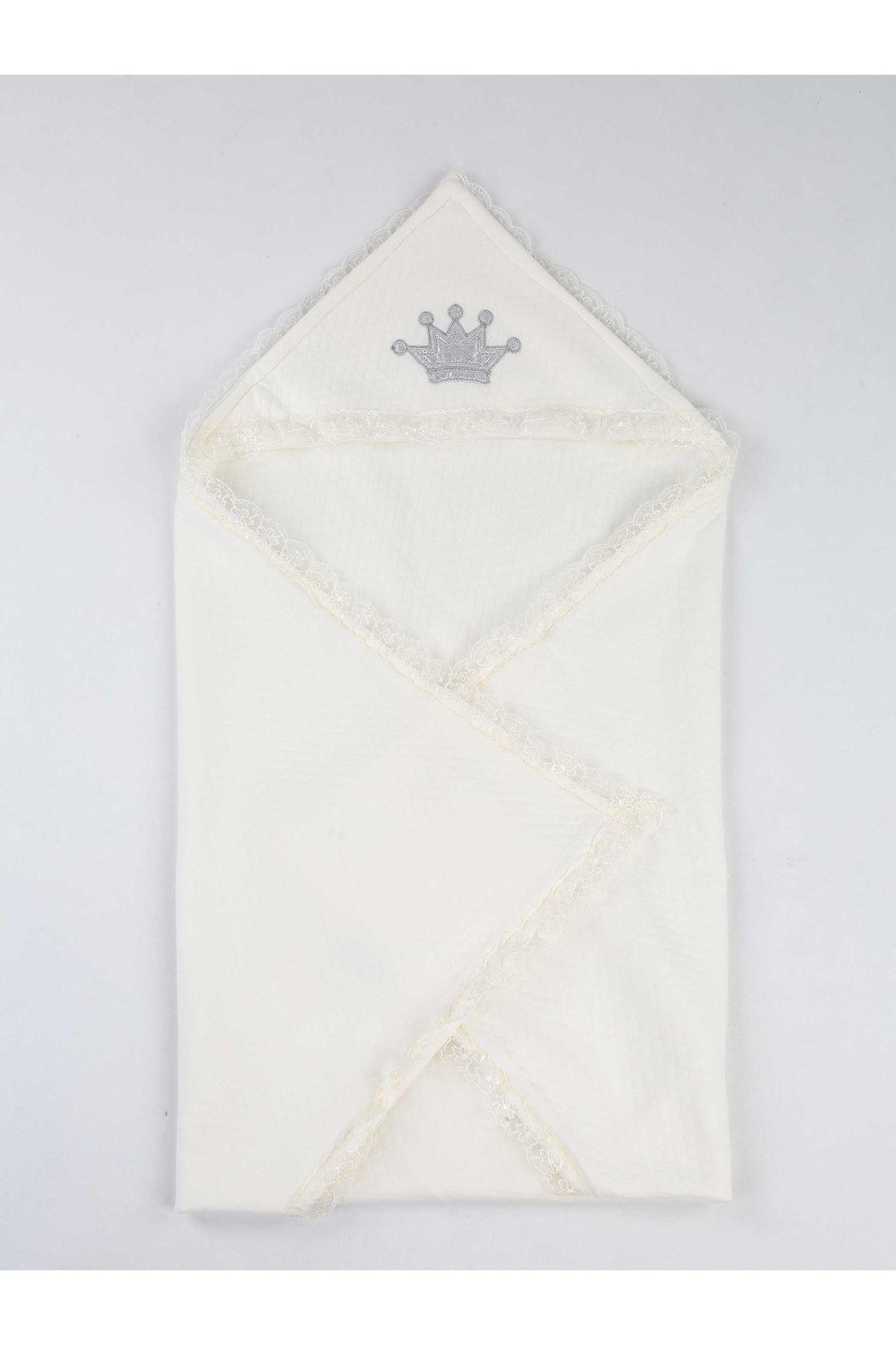 White 85 X85 Cm Baby Swaddle Blanket