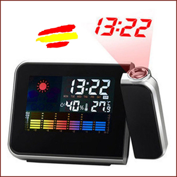 CLOCK Digital LED Color Thermometer Projector LCD Color alarma onewell high quality 3in1 digital lcd clock screen car auto vehicle time clock thermometer voltage two color luminous