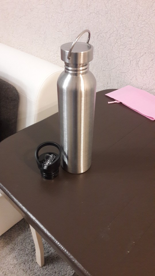 Stainless Steel Sports Water Bottle with Drinking Straw Hydro Flask Cold Water Bottle Flip Straw Cap 500/750/1000ml|Water Bottles| |  - AliExpress
