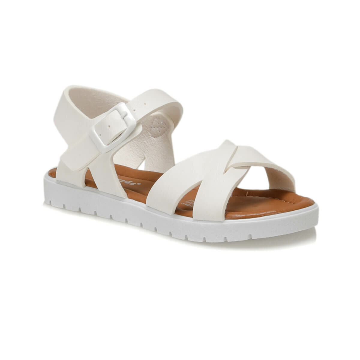 FLO 91.508159.P White Female Child Sandals Polaris