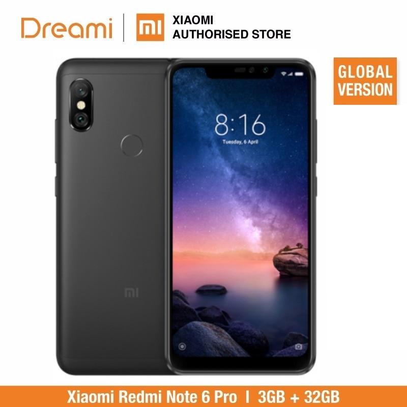 Version mondiale Xiaomi redmi note 6 Pro 32 go ROM 3 go de RAM (tout neuf et scellé) redmi note 6 pro