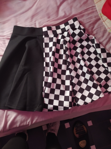 Punk double-sided color Mini Skirt photo review