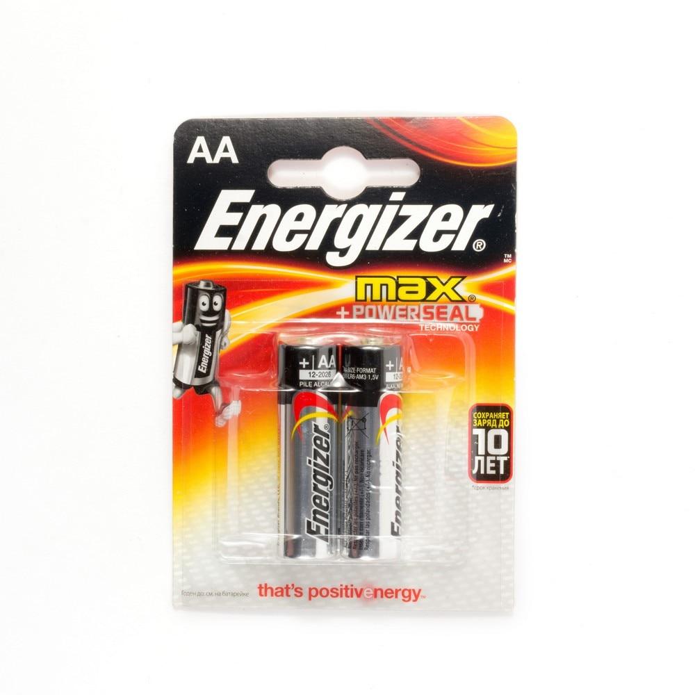 Батарейка Energizer MAX+Power Seal, 1.5 В, LR6 2 штуки в упаковке Батарейки      АлиЭкспресс