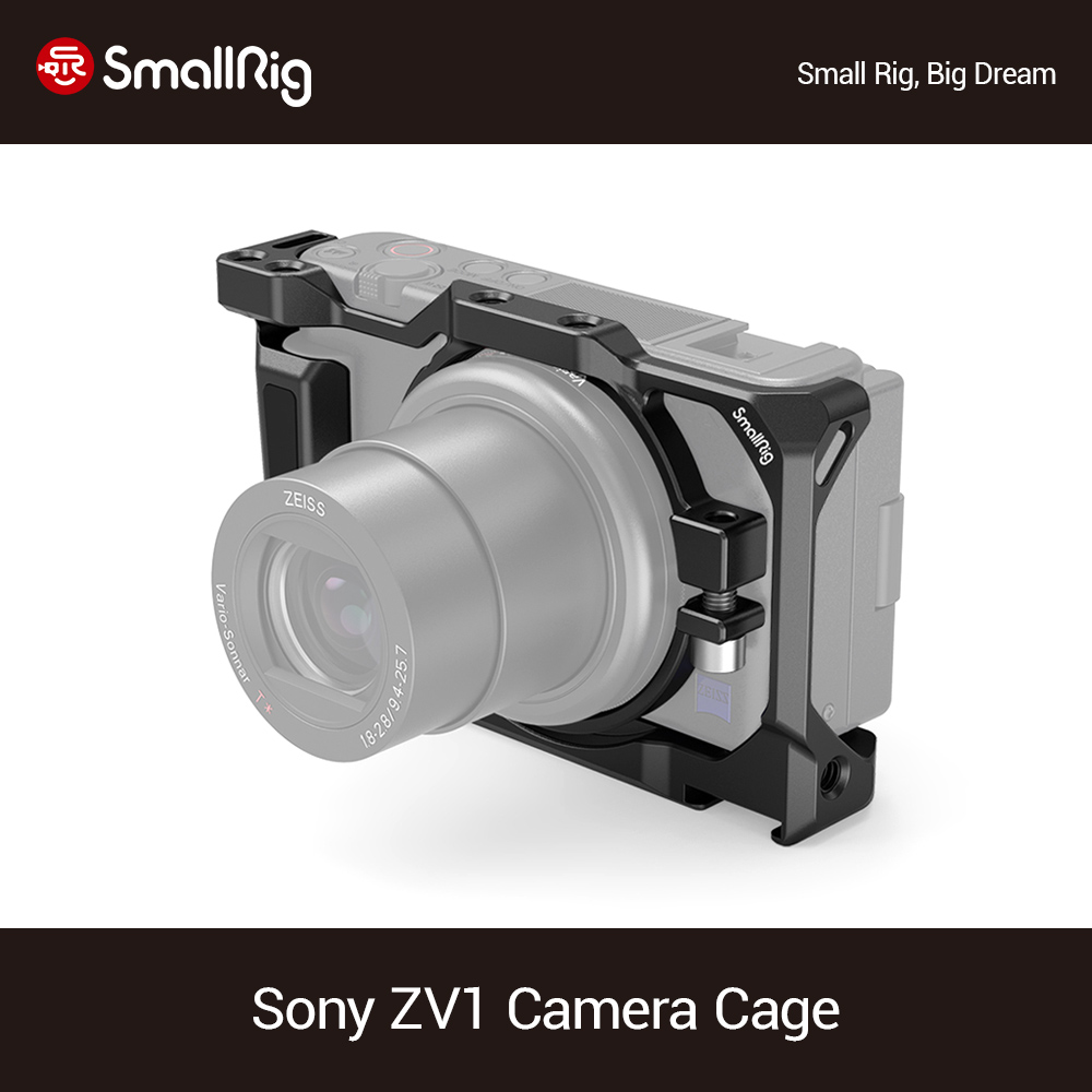 SmallRig Camera Cage For Sony ZV1 Camera Dslr Cage Cold Shoe For Microphone Led Light Camera Accessories DIY Rig-2938