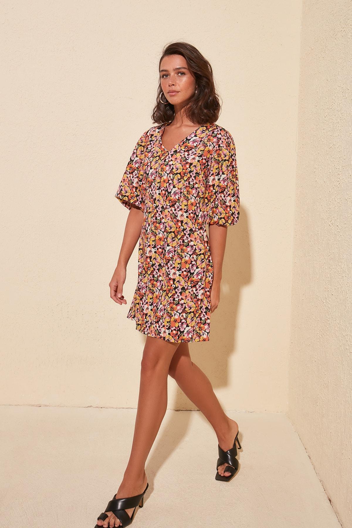 Платье с воздушными шарами и рукавами TWOSS20EL0633|Платья|   | АлиЭкспресс