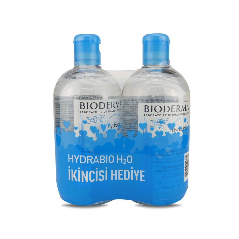 2 Pcs Bioderma Hydrabio H2O 500ml Micellar Moisturizing Cleansing Water Facial Cleanser Makeup Removing Water Face Purifying