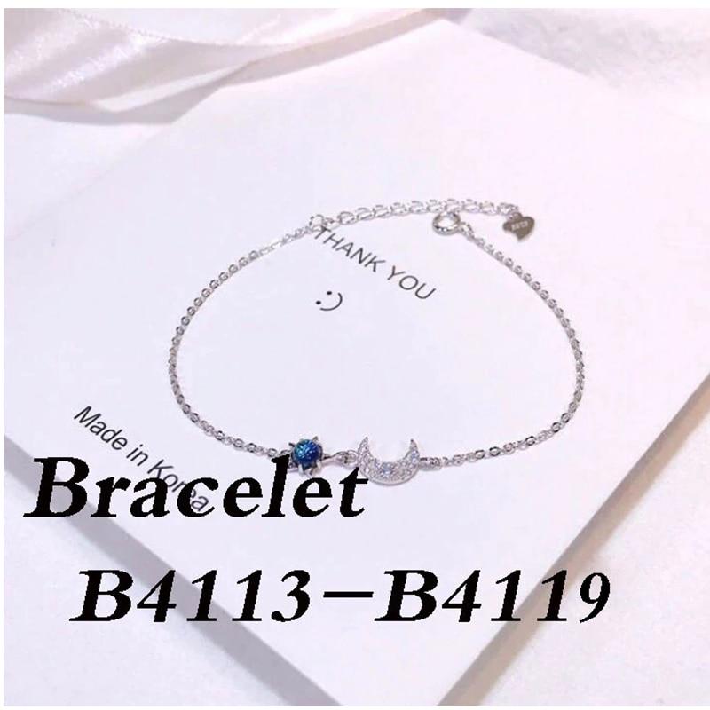 High quality silver 925 Bracelet B4113 B4114 B4115 B4116 B4117 B4118 B4119