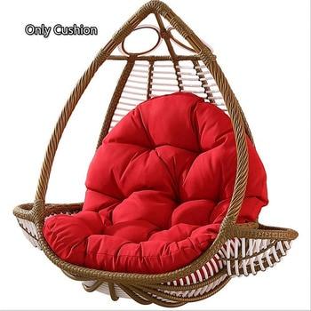 Rocking Chair Seat Cushion Swing Hanging Cushioning Garden Balcony Hanging Patio Basket Back Pads 80x120cm cojines (No Hammock)