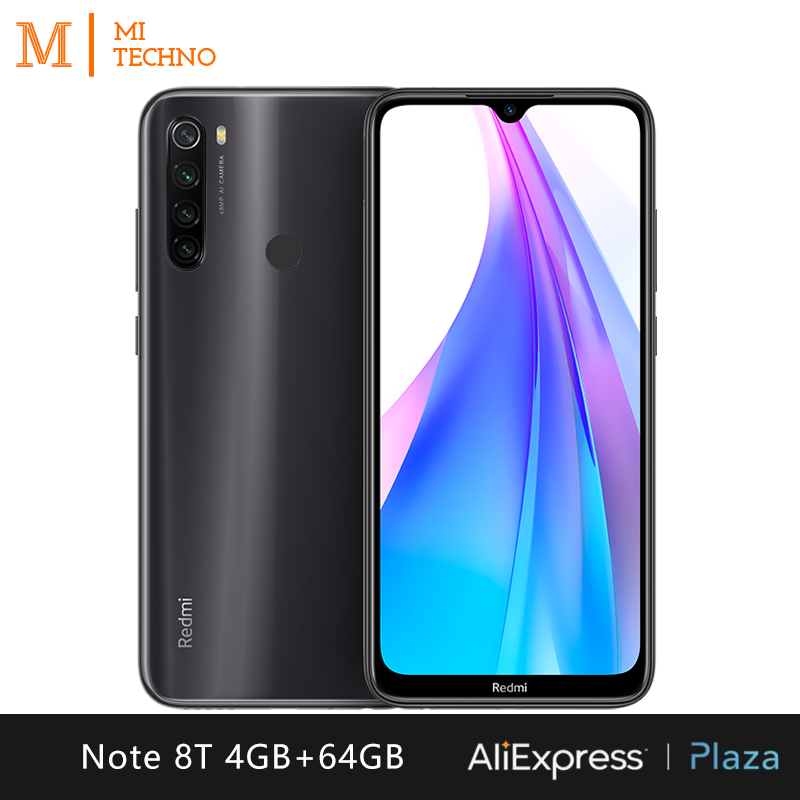 Xiaomi Redmi Note 8T Smartphone(4GB RAM 64GB ROM phone mobile, NFC, free, new, battery 4000 mAh, camera 48MP) [Global Version]