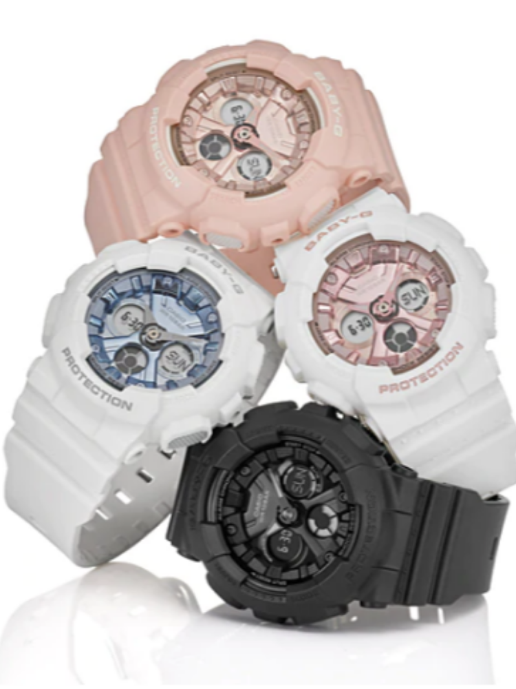 Women Clock Watches Vintage G-Shock Original Band Waterproof Silicone Resist Sport BA-130