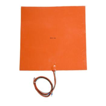 230V 1500W 500x500MM With 3M Adhesive and NTC 100K Thermistor Silicone Rubber Heated Pad Heater Bed For 3d Printer
