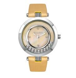 Relojes de mujer con perlas y cristales de baile en satén hombro luz solar