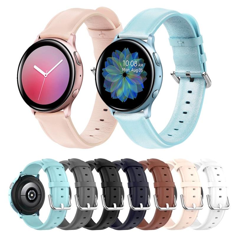 Ремешок из натуральной кожи для Samsung Galaxy Watch 46 мм 42 мм, браслет для Samsung Gear S3, Correa, Huawei Watch GT 2, 20 мм 22 мм