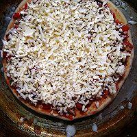 平底锅+炭炉子=披萨的做法图解9