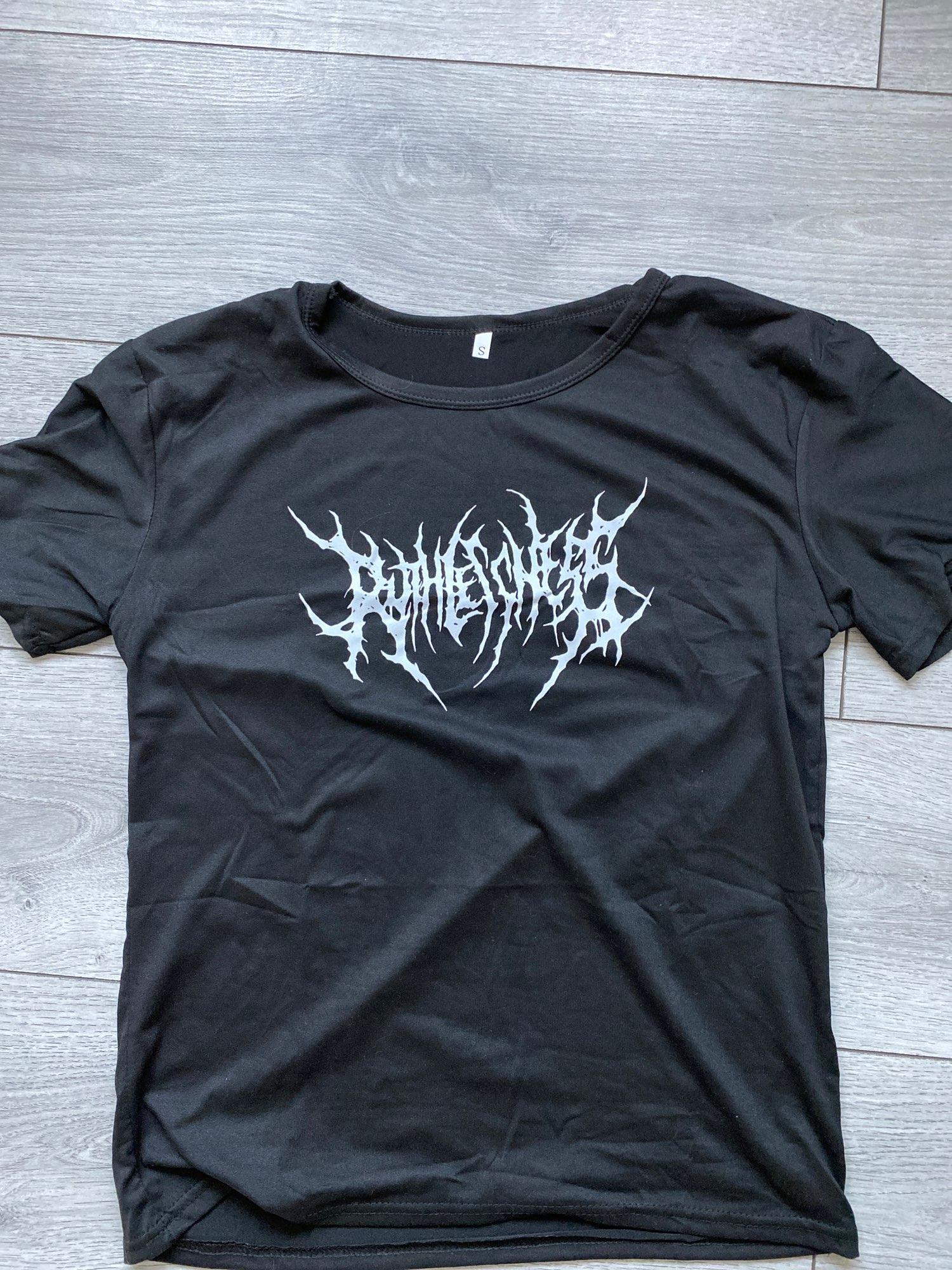 Egirl Gothic print T-shirt photo review