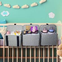 2021 Crib Organizer Baby Crib Hanging Storage Bag for Baby Clothing Caddy Organizer Essentials Bed Diaper Bag