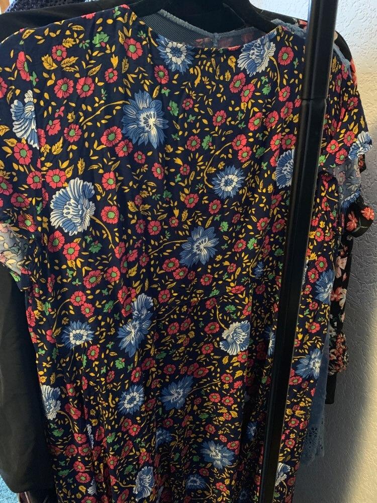 Vintage Floral Print Summer Dress Ruffle Sleeve Sash Sexy Long Dress Bohemian Women Dress Holiday Beach Dress Vestidos photo review