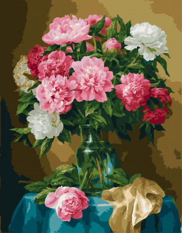 Painting By Numbers GX 32388 Fluffy Bouquet Of Peonies 40*50