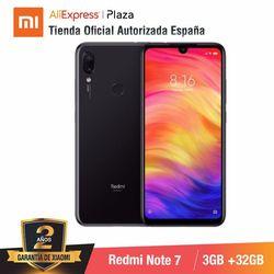 Versão global para espanha] xiaomi redmi note 7 (memoria interna de 32 gb, ram de 3 gb, camara dupla trasera de 48 mp) smartphone