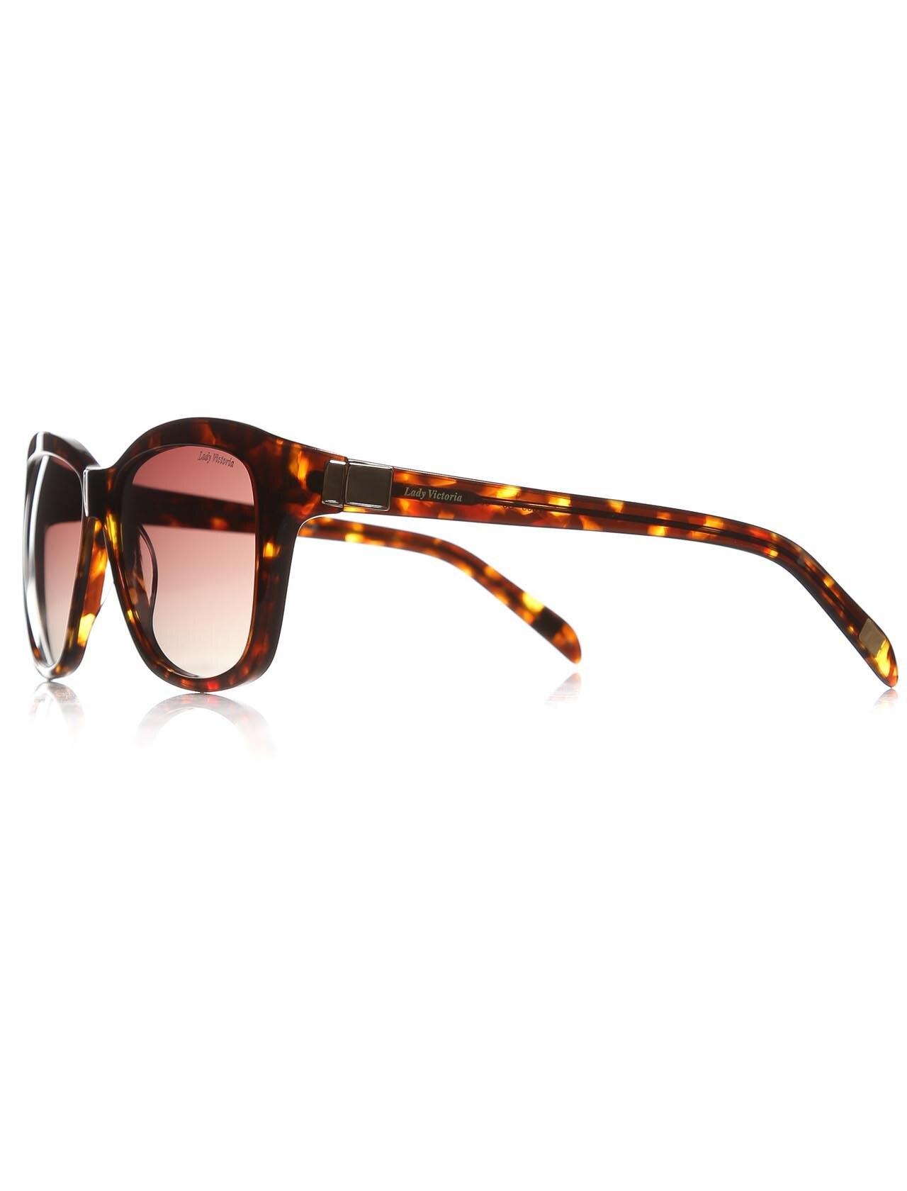 Women's sunglasses ldy 7003 03 bone Brown organic rectangle rectangular 55-15-135 lady victoria