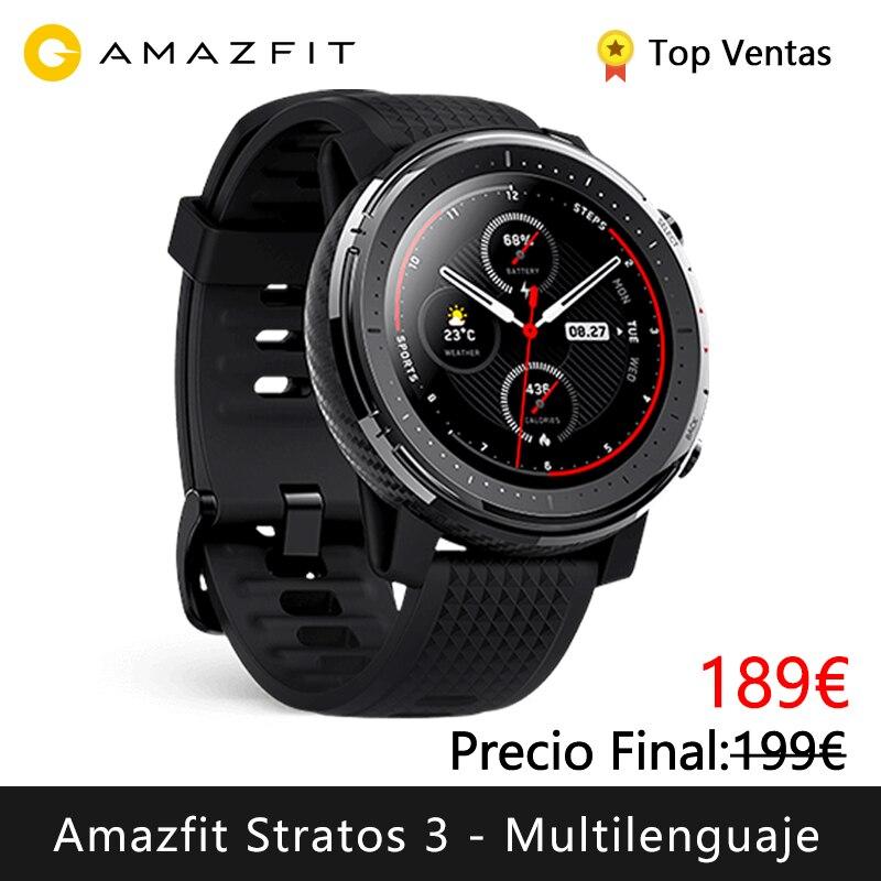 Смарт-часы Xiaomi Huami Amazfit Stratos 3 (bluetooth Смарт-часы GPS Спорт android IOS mi watch) [глобальная версия]