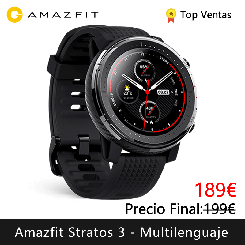 Xiaomi Huami Amazfit Stratos 3 Smart Watch (bluetooth Smart Watch GPS Sport Android IOS Mi Watch) [Global Version]