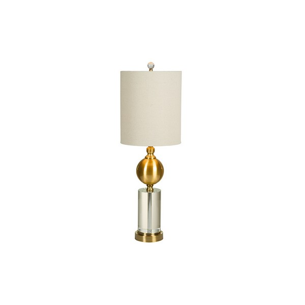 Desk Lamp Brass (25 X 76 X 25 Cm)