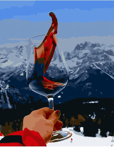 Painting By Numbers PK 51001 Warming Wine In The Mountains 40*50