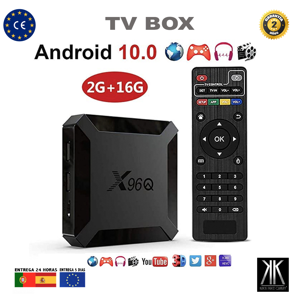 TV Box Android 10 4K media player 3D Video 2,4G 5GHz Wifi Bluetooth smart device television X96Q