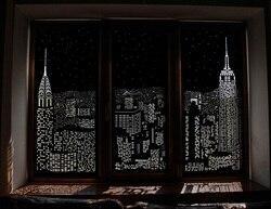Roller blinds perforollo night City, width 50 cm, black, holeroll