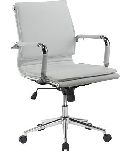 Office Armchair AMSTERDAM, Gas, Tilt, Similpiel White