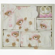 Baby Girls Clothing Set Newborn Basic Essentials With Bear Figure 10 Piece Cotton Layette Wellcome Home Gift 0 3 Months