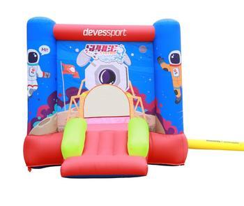 Castillo con tobogán con inflador infantil parque de juegos para exterior