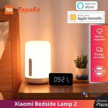 Xiaomi Mi Bedside Lamp 2 Smart Home Lámpara de Mesa Control de Voz Aplicación Inteligente Ajuste de Color Versión Global Original