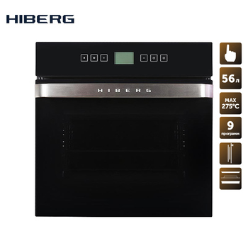Built-in electric oven with convection HIBERG VM 6495 B household home appliances for the kitchen electric oven cooking food food mixers bosch mfq2210d home kitchen appliances processor machine equipment for the production of making cooking