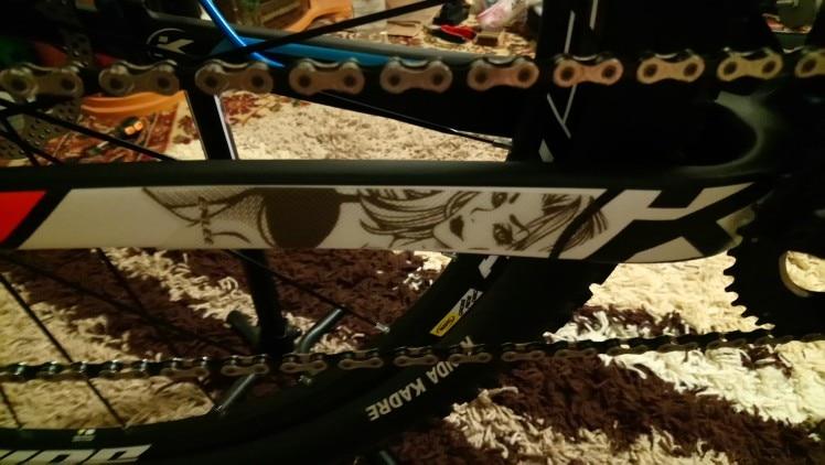 Reflective white sticker bike frame protection film mtb bmx chain quest