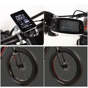 Image 4 - 늑대의 송곳니 전기 자전거 지방 산악 자전거 알루미늄 합금 26 인치 27 속도 48V 1000W 모터 16AH ebike 스노우 자전거 지방 타이어