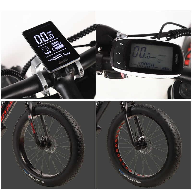 Wolf's fang vélo électrique gros VTT en alliage d'aluminium 26 pouces 27 vitesse 48V 1000W moteur 16AH ebike neige vélos gros pneu