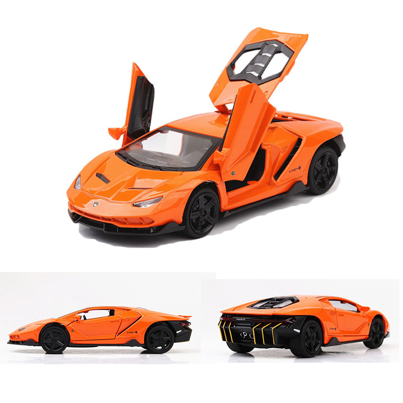 1:32 Lamborghini-lp770  Alloy Pull Back Model Car Model Toy Sound Light Pull Back Toy Car For Boys Children Gift Decorations Toy