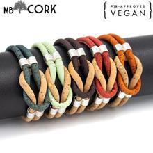 สีสัน cork สร้อยข้อมือ vintage unisex เครื่องประดับทำด้วยมือสร้อยข้อมือ BR 424 MIX 5