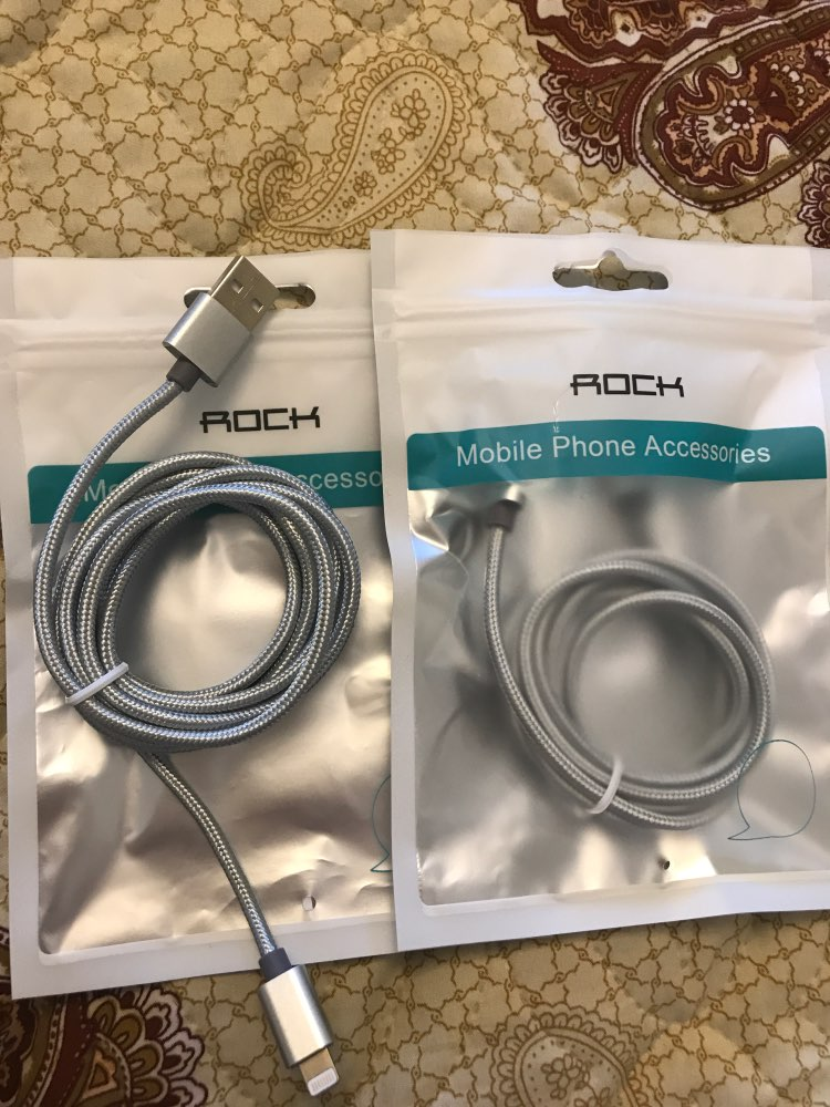 ROCK USB Cable For iPhone 11 Max Pro XR Xs X 7 8 Plus 6 6S 5 USB Charging Data Sync Cable For iPad iOS Mobile Phone Charger Cord|Mobile Phone Cables|   - AliExpress