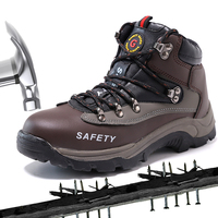 Work Boots Safety Steel Toe Shoes Men Officer Leather Protect Feet Wear Resistant Anti Slip Construction Work & Safety Boots     -