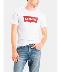 T-SHIRT LEVIS basic Basic Ts white short sleeve BRANDED for men Clothing male