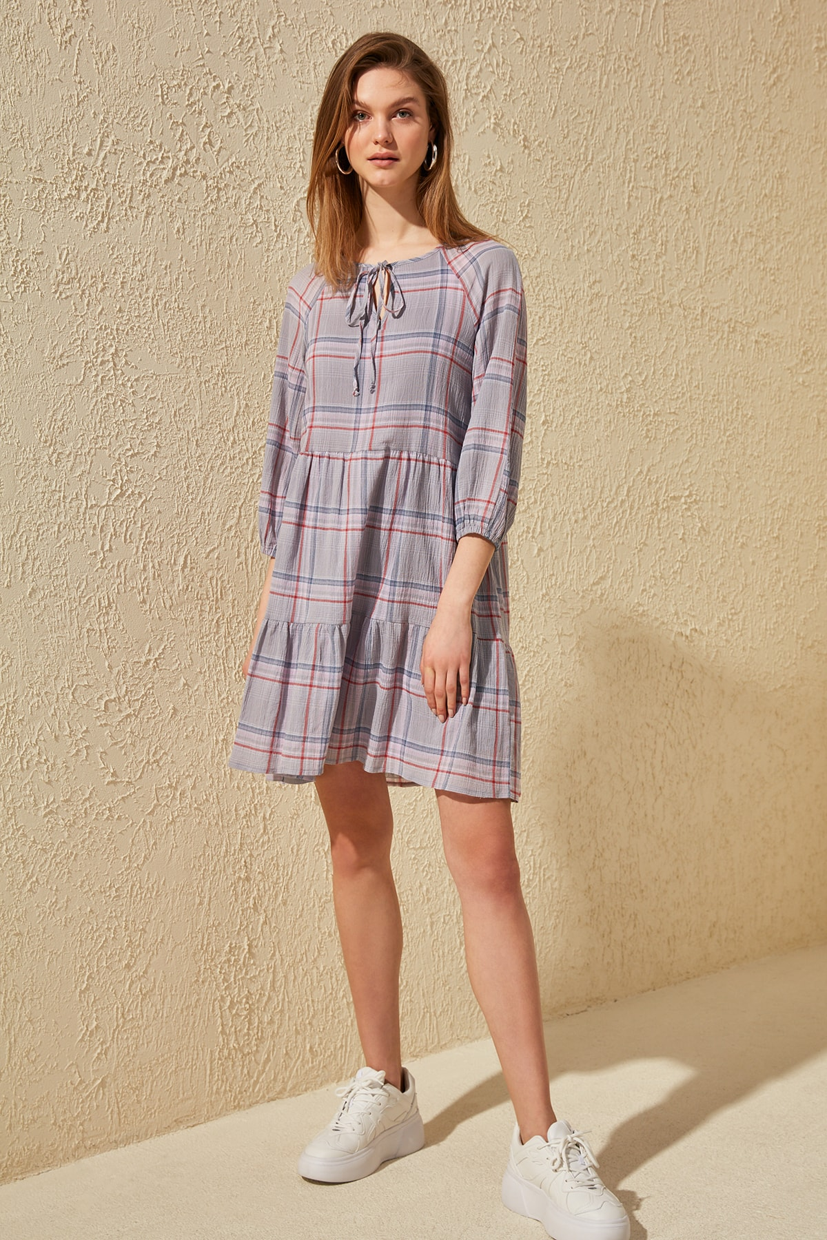 Trendyol Plaids Dress TWOSS20EL1054