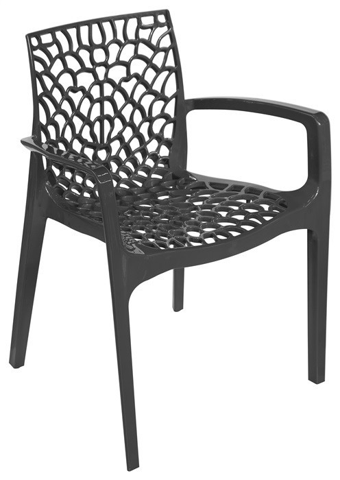 Armchair WHIM, Polypropylene Anthracite *