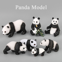 Simulation Panda Model Set Hand painted Action Figure Toys For Children Kids Gifts Models simulation Family Decoration